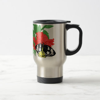 Butterfly Drinking Nectar Travel Mug