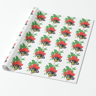Butterfly Drinking Nectar Wrapping Paper