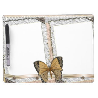 Butterfly Dry Erase Board With Keychain Holder