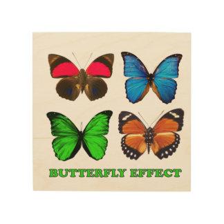 Butterfly effect wood wall art