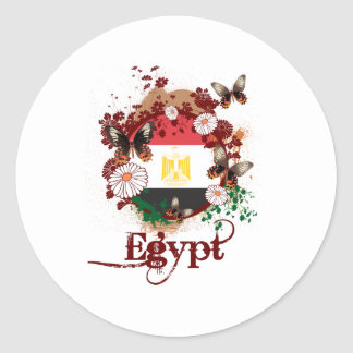 Butterfly Egypt Classic Round Sticker