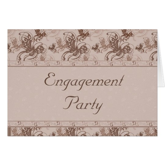 Butterfly Engagement Party Invitation