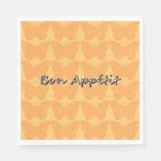 BUTTERFLY-EVERYDAY-HOLIDAY-STYLISH-NAPKIN-Sherbet Disposable Napkins