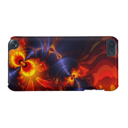 Butterfly Eyes, Abstract Gold Violet Wings iPod Touch 5G Cases