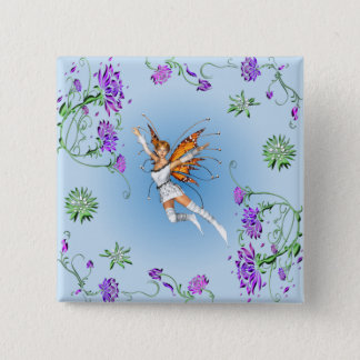 Butterfly Faerie 2 Inch Square Button