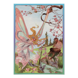 Butterfly Fairy and Centaur Print