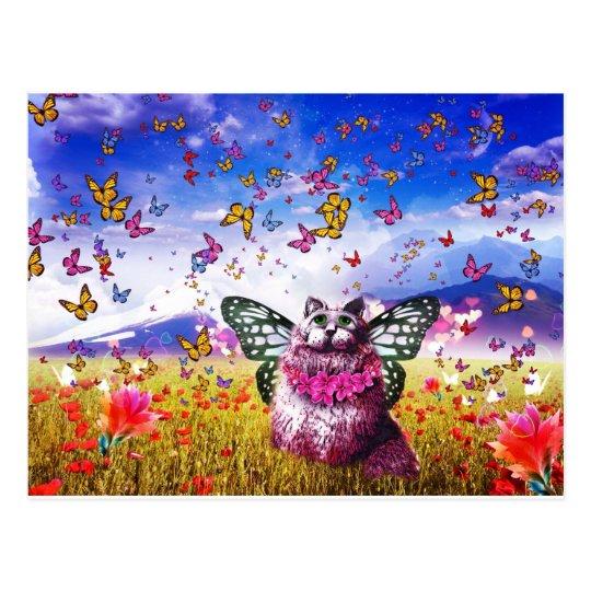 Butterfly Fairy Kat Postcard