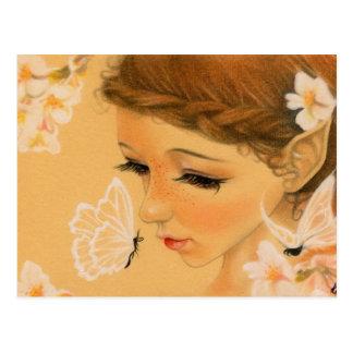 Butterfly Fairy kisses Postcard