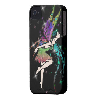Butterfly Fairy w/Stars iPhone 4 Case-Mate Cases