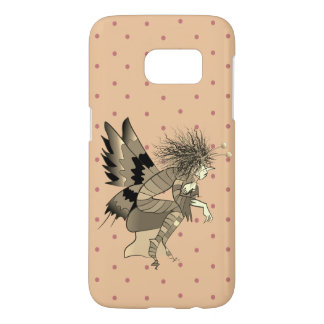 Butterfly Fantasy Cartoon Fairy Cute Polka Dots Samsung Galaxy S7 Case