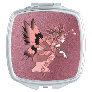 Butterfly Fantasy Fairy Tale Unique Elf Brownie Makeup Mirror