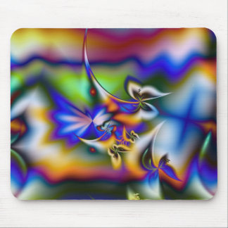 Butterfly Fantasy Fractal Mouse Pad