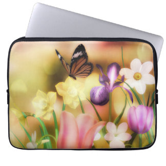 butterfly fantasy garden lap top sleeves laptop computer sleeve