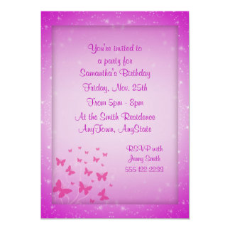 Butterfly Fantasy Invitations