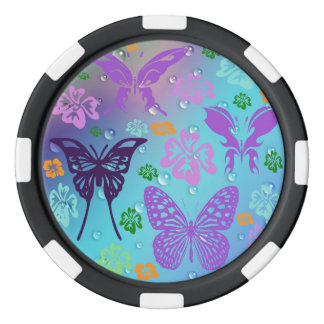 Butterfly Fantasy Set Of Poker Chips