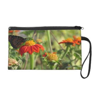 Butterfly Feeding on Flower Wristlet
