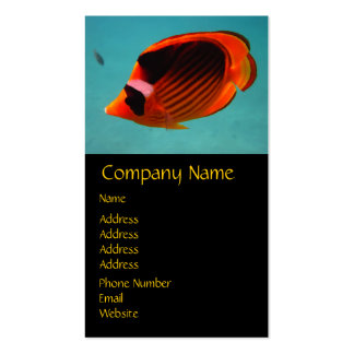 Butterfly Fish Business Card Template