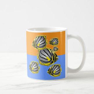 Butterfly fish classic white coffee mug