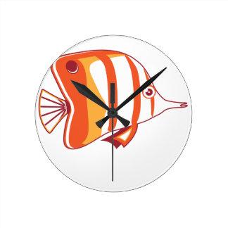 Butterfly fish wallclocks
