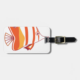 Butterfly fish travel bag tag