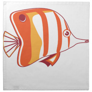 Butterfly fish printed napkins