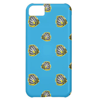 Butterfly-fish pattern iPhone 5C case