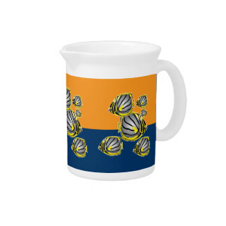 Butterfly fish drink pitchers