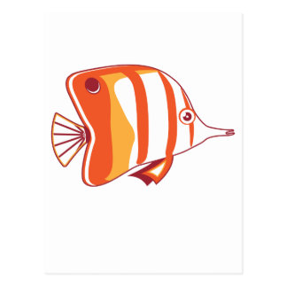 Butterfly fish postcard