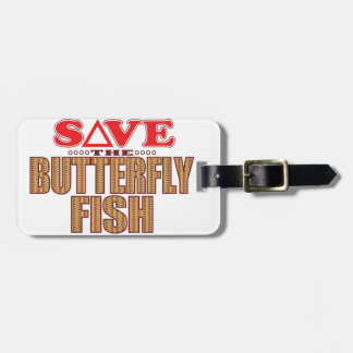 Butterfly Fish Save Travel Bag Tags