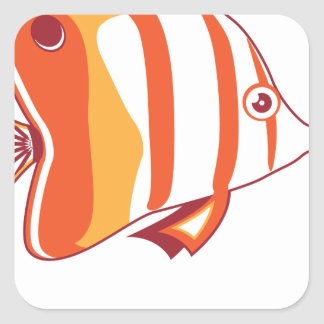 Butterfly fish sticker