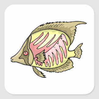 Butterfly Fish Square Sticker