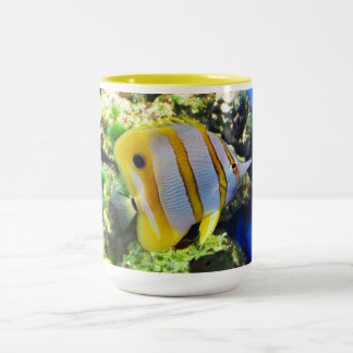Butterfly fish Two-Tone coffee mug