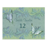 Butterfly Flight Floral Table Number Postcard