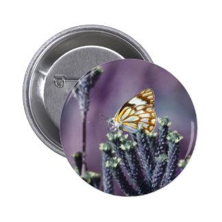 Butterfly Flitter Flutter vintage 2 Inch Round Button