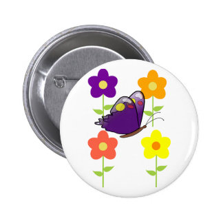 Butterfly Floral Blossoms Destiny Gardens Pinback Buttons