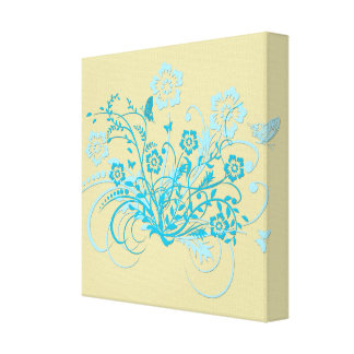 Butterfly Floral Swirl Canvas Print