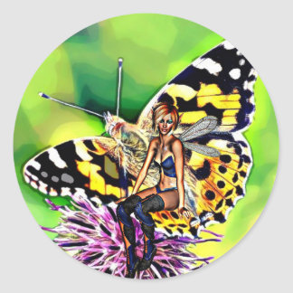 Butterfly, Flower and Fairy Sticker