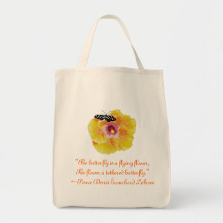 Butterfly Flower Ponce Denis Ecouchard Lebrun Quot Tote Bag
