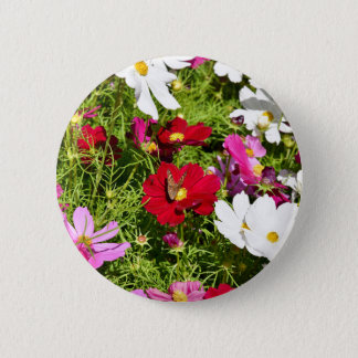 BUTTERFLY & FLOWERS AUSTRALIA 2 INCH ROUND BUTTON