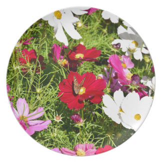 BUTTERFLY & FLOWERS AUSTRALIA PARTY PLATE