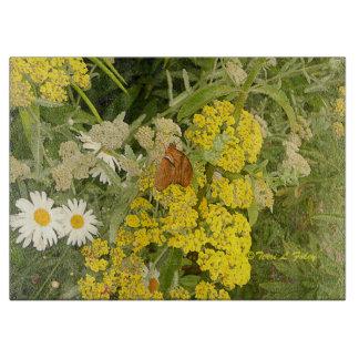 Butterfly Flowers Cutting Board