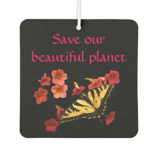 Butterfly Flowers Save Our Planet Air Freshener