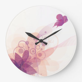 Butterfly Fly Away Wall Clocks & Numeral Options