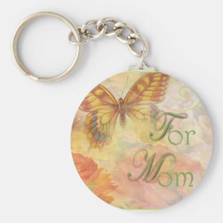 BUTTERFLY FOR MOM FLORAL KEYCHAIN