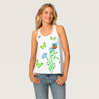 Butterfly funny elegant customizable tank top