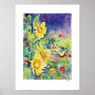 Butterfly Garden, by Sue Ann Jackson Poster