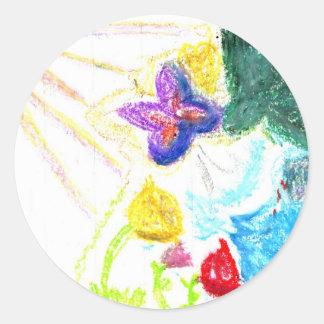 Butterfly Garden Classic Round Sticker