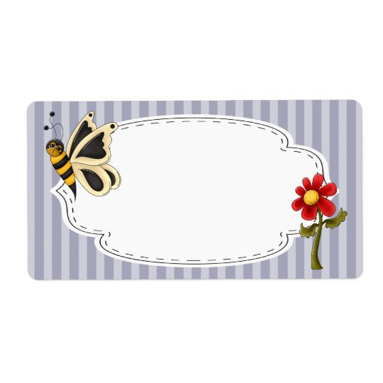 Butterfly Garden Label