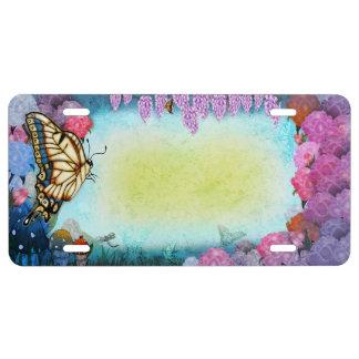 Butterfly Garden License Plate