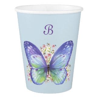 Butterfly Garden Paper Cup